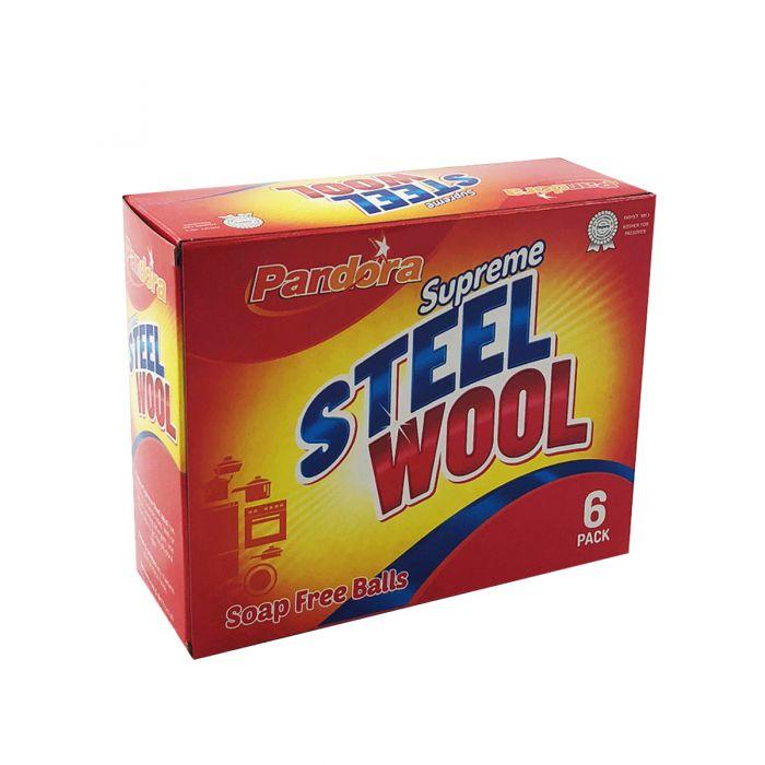 Pandora Supreme Steel Wool Balls - 6 ct.