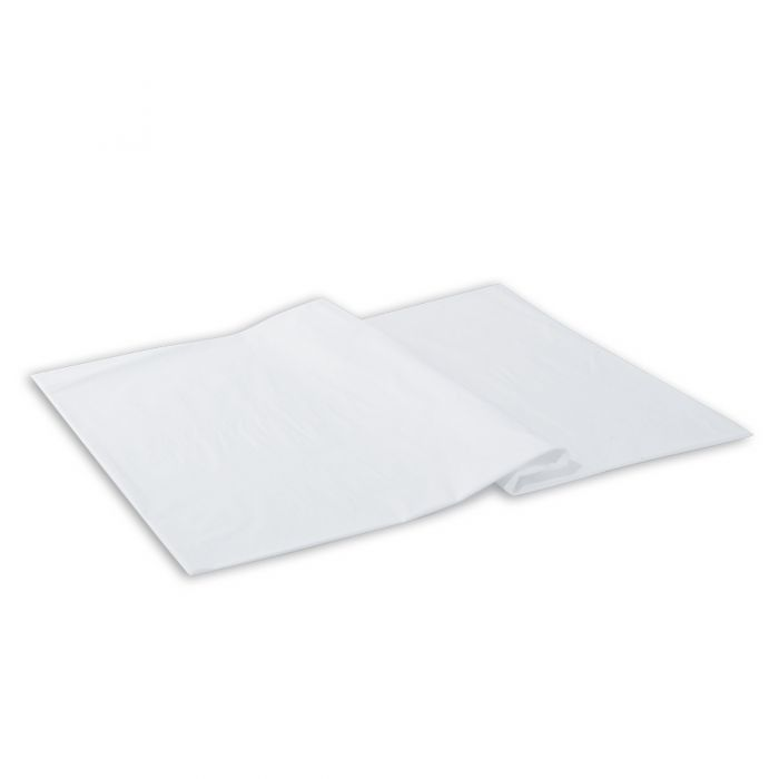 """Dining Collection Heavy Duty Table Covers (Pre-cut) - 36"""" x 108"""" - White - 100 Count"""