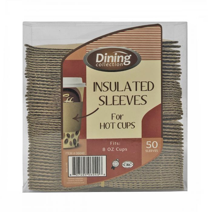 Dining Collection Insulated Sleeves for Hot Cups (Fits 8 oz. cups) - 50 ct.