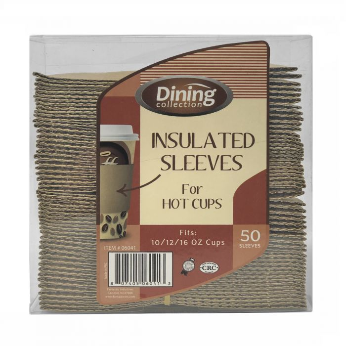Dining Collection Insulated Sleeves for Hot Cups (Fits 10/12/16 oz. cups) - 50 ct.