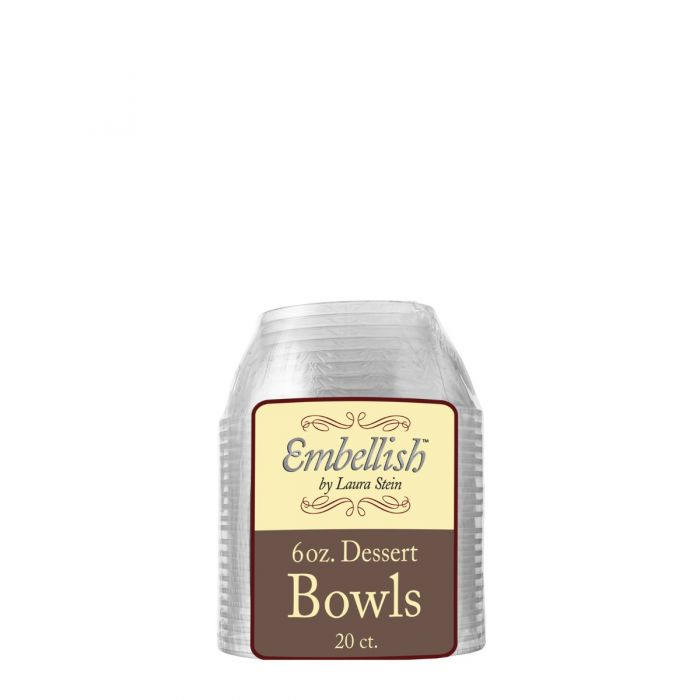 Embellish 6 oz. Dessert Bowls - Clear Plastic - 20 Count