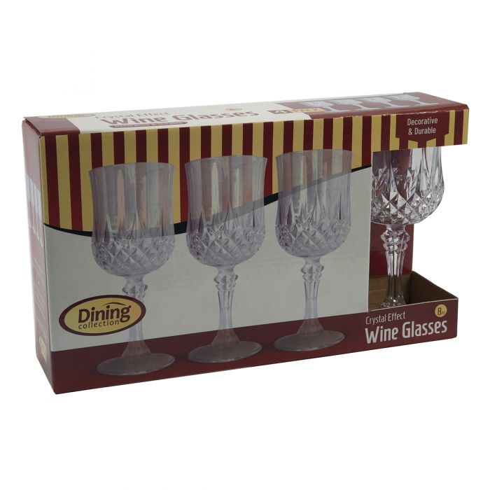 Dining Collection Crystal Effect Wine Glass (8 oz.) - 4 Count