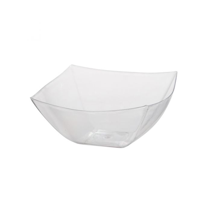 Dining Collection 16 oz. Square Bowl - Clear