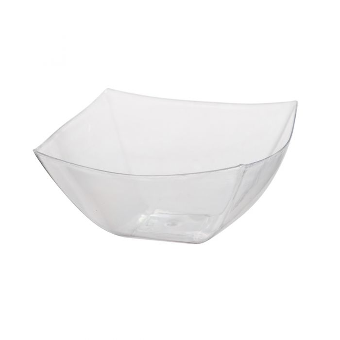 Dining Collection 32 oz. Square Bowl - Clear