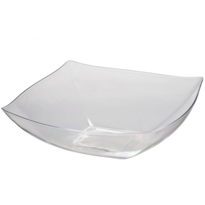 Dining Collection 128 oz. Square Bowl - Clear
