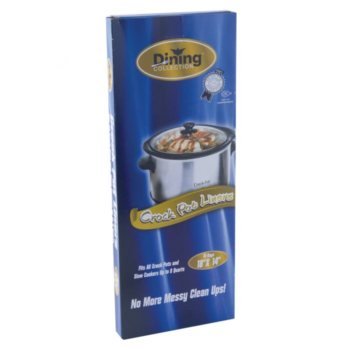 """Dining Collection Crock Pot Liners - 18"""" x 14"""" - 10 ct."""
