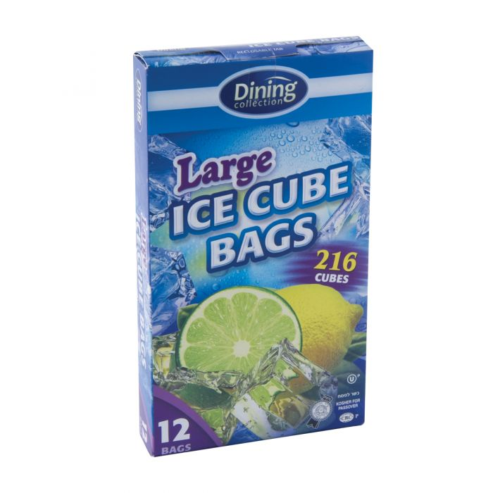 Dining Collection Ice Cube Bags - Large (180 Cubes) - 12 Count