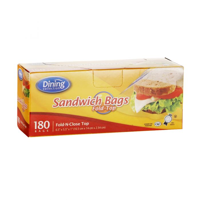 Dining Collection Fold Top Sandwich Bags - 180 ct.