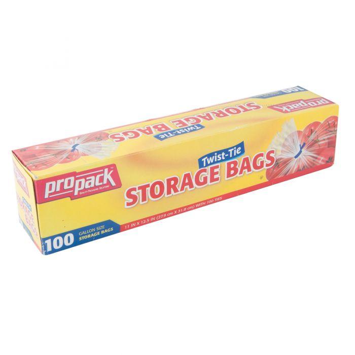 ProPack Storage Bags w/ Twist Ties - 100 ct.