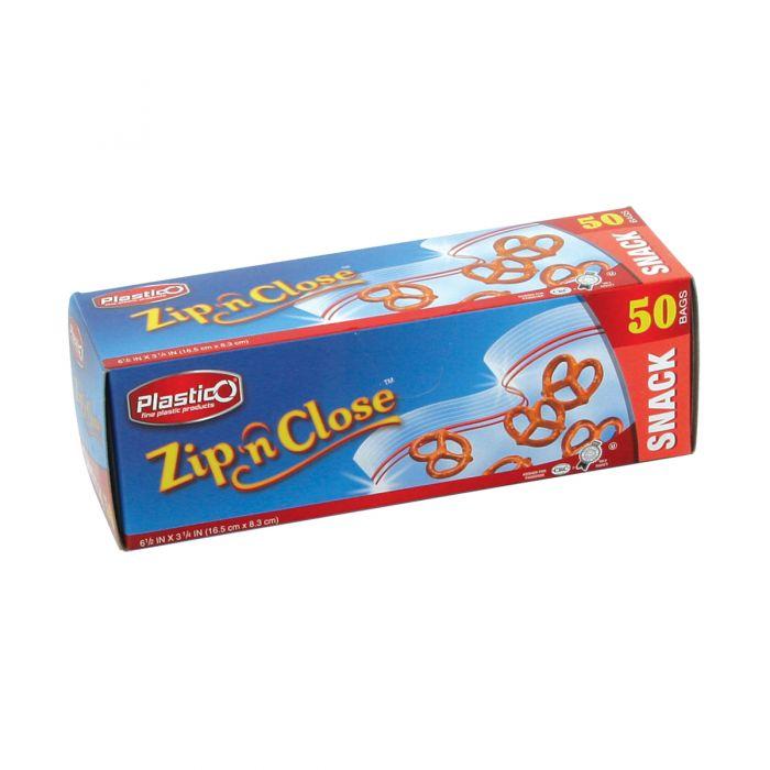 Plastico Zip n' Close Snack Bags - 50 ct.