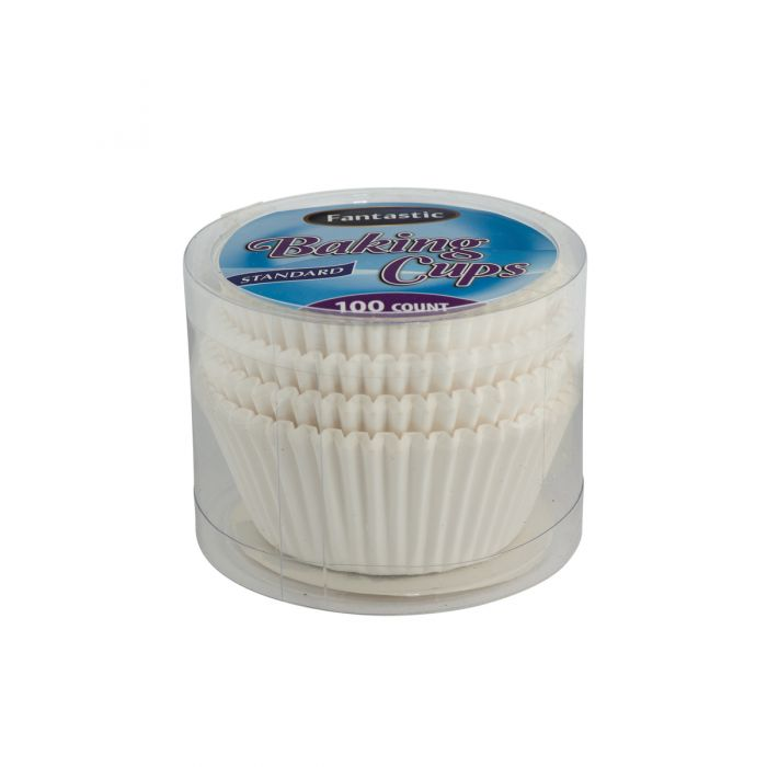 Fantastic Baking Cups (Standard Size) -  White - 100 Count