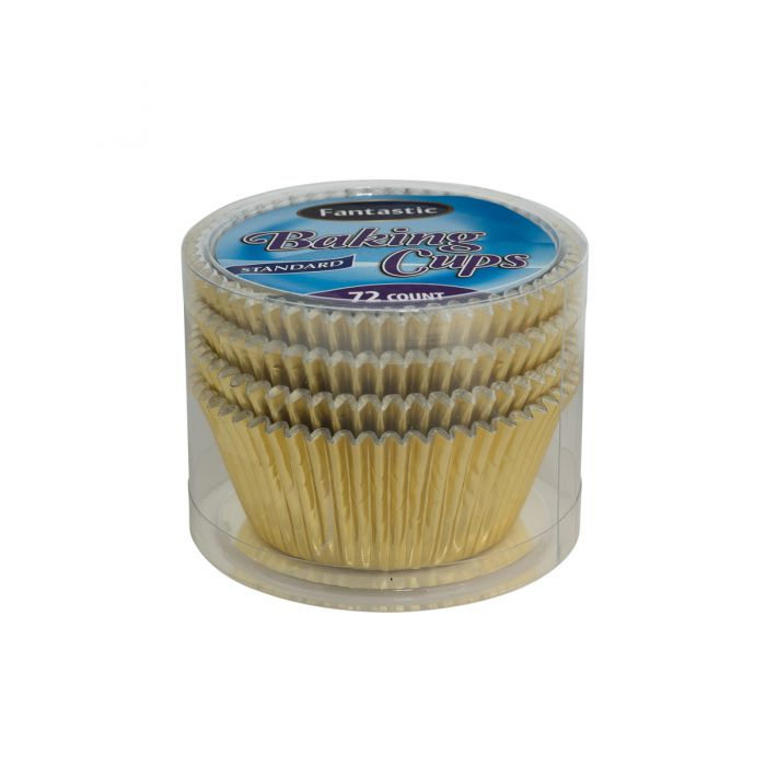 Fantastic Baking Cups (Standard Size) -  Gold - 72 Count