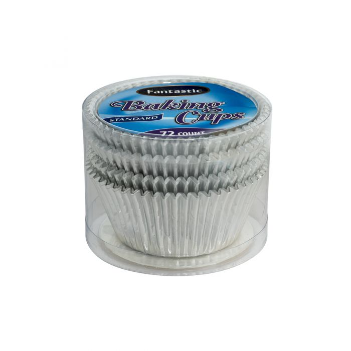 Fantastic Baking Cups (Standard Size) -  Silver - 72 Count