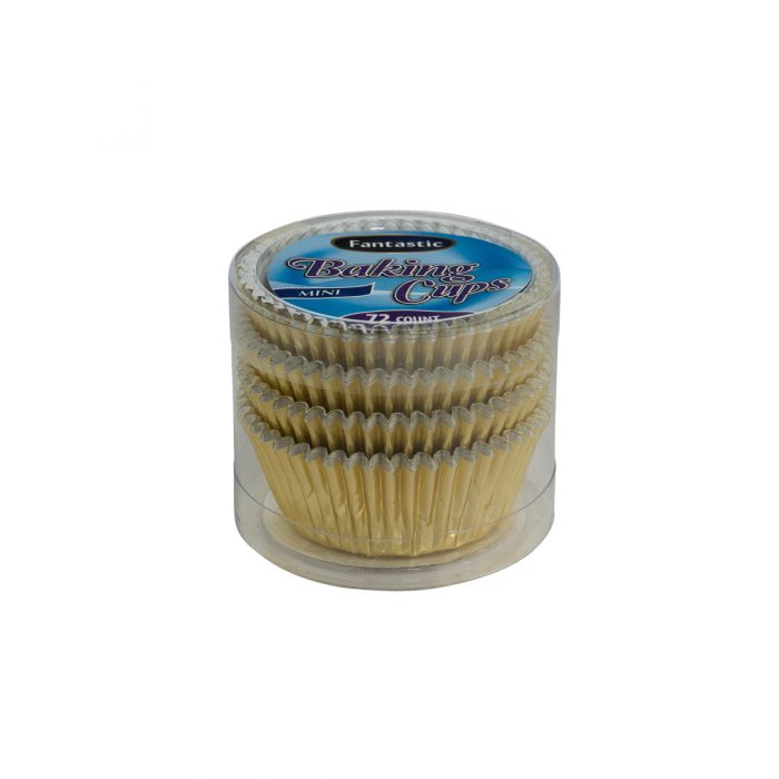 Fantastic Baking Cups (Mini-Size) - Gold - 72 Count