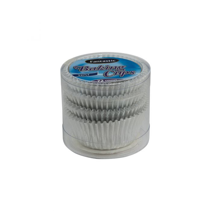 Fantastic Baking Cups (Mini-Size) -  Silver - 72 Count