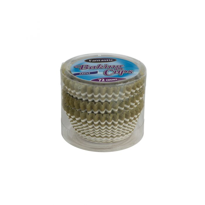 Fantastic Baking Cups (Mini-Size) -  Linear Gold - 72 Count