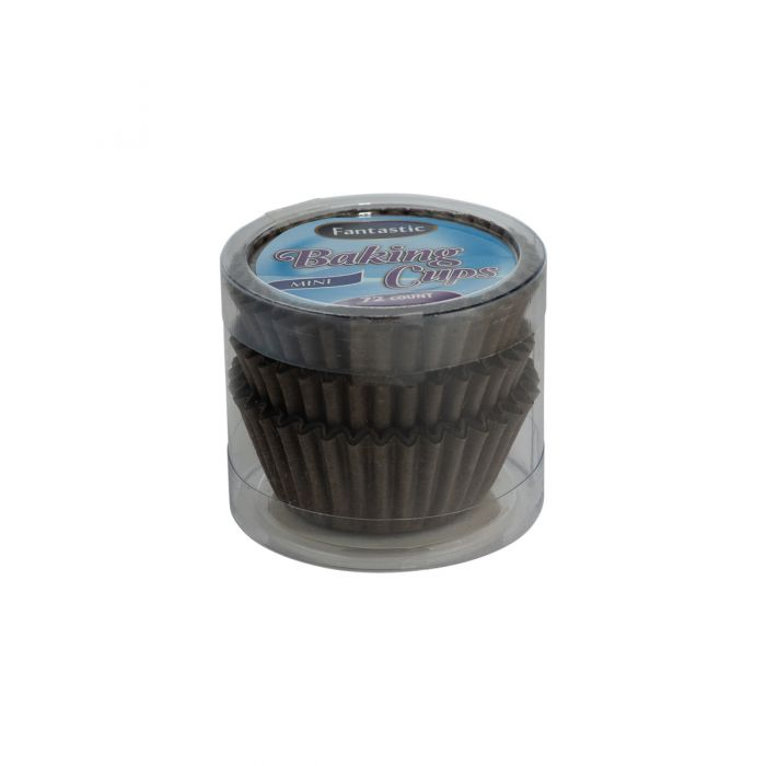 Fantastic Baking Cups (Mini-Size) -  Brown - 72 Count