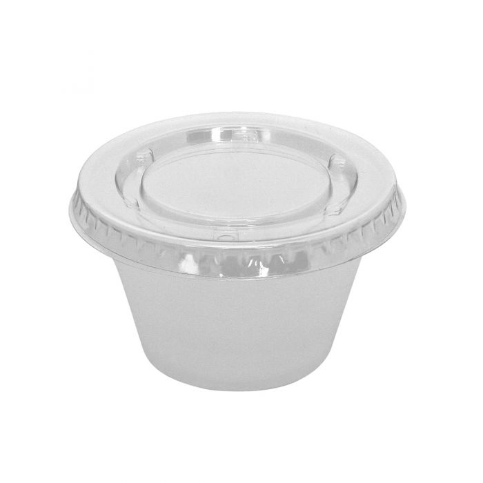 Dining Collection 4 oz. Souffle Container w/ Lid - 15 ct.