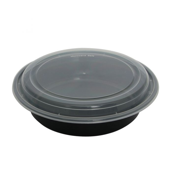 Dining Collection 32 oz. Round Container w/ Lid - 4 ct.