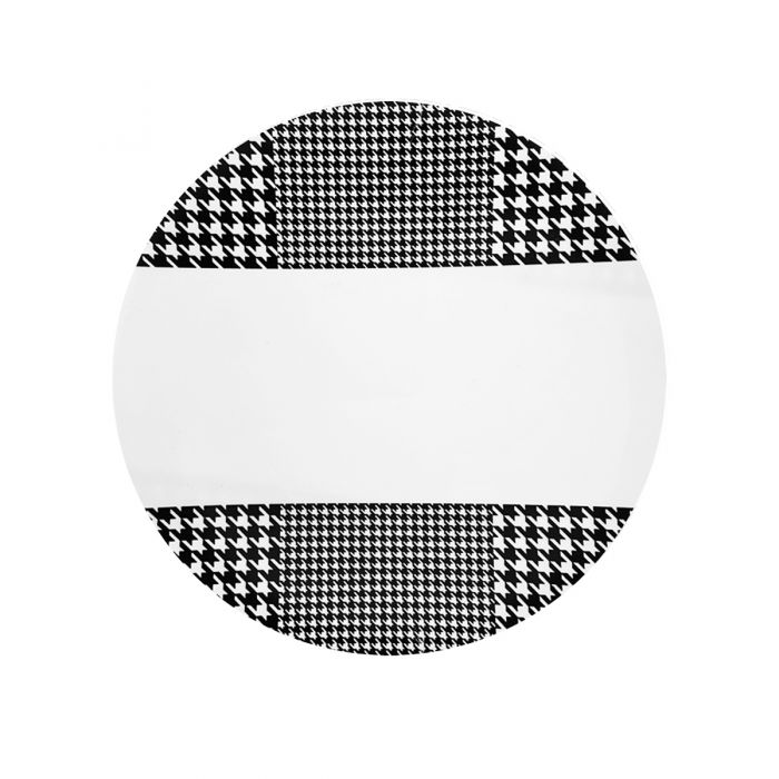 """CoupeWare Houndstooth (White/Black)  9"""" Plates - 10 ct."""