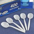 Dining Collection Soupspoons (Box) - White Plastic - 400 ct.