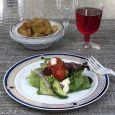 "ChinaWare Elegant 7.5"" Salad Plates - White/Cobalt/Gold - 10 Count"