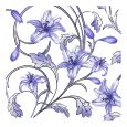 Dining Collection Lunch Napkins Flowers #35