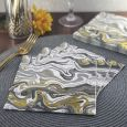 Dining Collection Lunch Napkins - Grey & Gold Swirls - 20 ct.