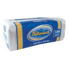 Silktouch Lunch Napkins - Family Pack - White - 500 Count