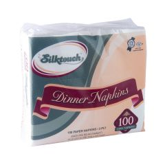 Silktouch Dinner Napkins - 2-Ply - White - 100 Count