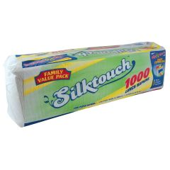 Silktouch Lunch Napkins - Family Value Pack - Zip & Store - White - 1000 Count