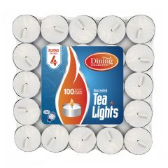 Dining Collection Tealights Brick - 100 Count