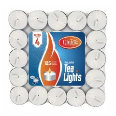 Dining Collection Tealights Brick - 125 Count