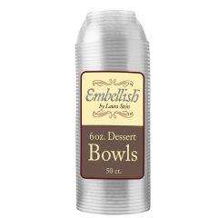 Embellish 6 oz. Dessert Bowls - Clear Plastic - 50 Count