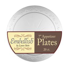 "Embellish 7"" Salad Plates - Clear Plastic - 20 Count"