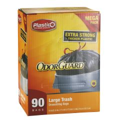 Plastico Trash Bags - Club Pack - 30 Gal. - Black - 90 ct.