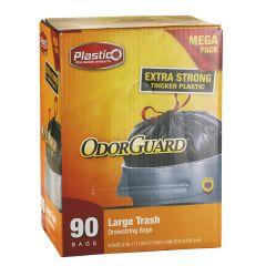 Plastico Trash Bags - Club Pack - 30 Gal. - Black - 90 ct.
