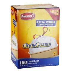 Plastico Trash Bags - Club Pack - 13 Gal. - White - 150 ct.