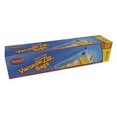 Plastico Vacuum Zip Bags (Gallon) - 10 Count