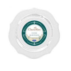 "ClassicWare 7"" Salad Plates - Clear Plastic - 18 Count"