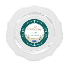 "ClassicWare 9"" Dinner Plates - Clear Plastic - 18 Count"