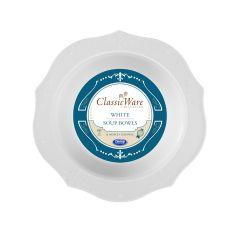 ClassicWare 16 oz. Soup Bowls - White Plastic - 18 Count