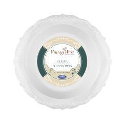 VintageWare 12 oz. Soup Bowls - Clear Plastic - 18 Count