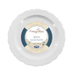 "VintageWare 7"" Salad Plates - White Plastic - 18 Count"