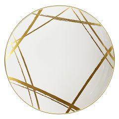 "CoupeWare Brush Stroke (White/Gold)  10.25"" Plates - 10 ct."