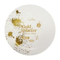 "CoupeWare Gold-Splatter W&G 9"" Plates - 10 ct."