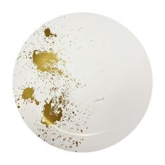 "CoupeWare Gold Splatter (White/Gold)  9"" Plates - 10 ct."