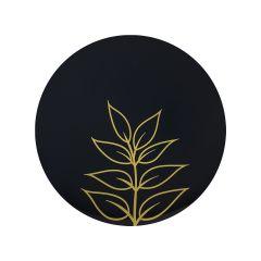 "CoupeWare Gold Leaf (Black/Gold)  9"" Plates - 10 ct."