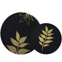 CoupeWare Gold Leaf (Black/Gold)  Combo Plates - 32 ct.