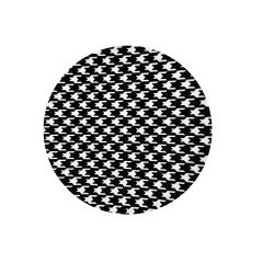 """CoupeWare Houndstooth (White/Black)  7.5"""" Plates - 10 ct."""